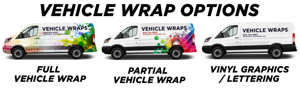 Yonkers Vehicle Wraps vehicle wrap options