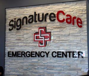 custom lobby signage