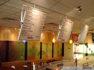 custom indoor menu boar signage