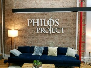 Scarsdale Sign Company philos lobby wall 300x225